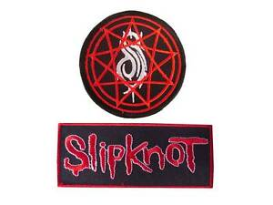 New 2 Slipknot Heavy Metal Rock Band embroidered iron on patches.(set1)