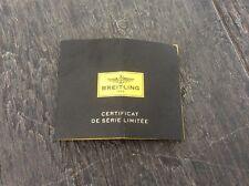Breitling Certificate de Série Limitée