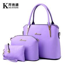 Women Handbag Shoulder Bags Tote Purse PU Leather Lady Messenger Hobo Bag  3Pcs