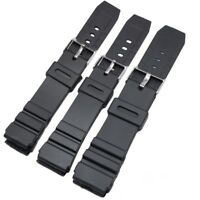 Men Silicone Military Diving Sports Wristband Watch Strap For casio s&