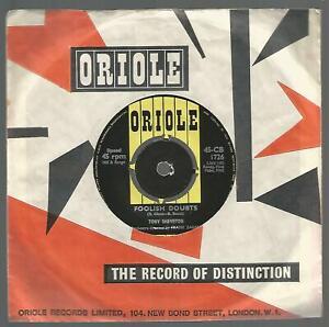 Tony Sheveton - Foolish Doubts, RARE 1962 UK Oriole 45 VG/VG