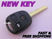 OEM LEXUS HYQ1512V long blade keyless entry remote fob transmitter+NEW KEY SHELL