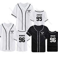 KPOP Seventeen GOING Button Down Baseball Jersey T-shirt Unisex Tshirt THE8 DINO