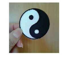 Yin Yang - Martial Arts - Karate - Tai-Chi - Symbol - Iron On Patch - 2""