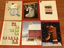 6 Christmas Holiday Greeting Cards with Envelopes BRAND NEW Lot of 6 Reduced
