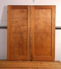 """Antique Vintage Pair Cabinet Doors from Old Built In Kitchen Cabinet 43"""" Tall"""