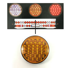 ROUND TRUCK TRAILER LED LAMP REAR TAIL SIDE LIGHT YELLOW LENS LIGHT INDICATOR