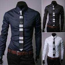Big & Tall Business-Regular Collar Formal Shirts for Men