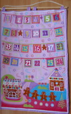 FABRIC CHRISTMAS  ADVENT CALENDAR  QUILTEDD COTTON BUNTING THEMED