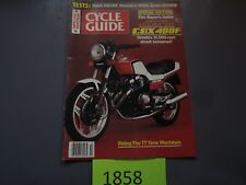OCTOBER 1982 CYCLE GUIDE MAGAZINE,HONDA CBX 400F,HUSKY 500CR,SUZUKI GS1100GK,AMA