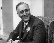 32nd US President Franklin D Roosevelt FDR Glossy 8x10 Photo Political Print