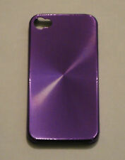 Purple Aluminum Metal Hard Case for Apple iPhone 4 4S
