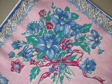 Blue Daffodils bouquet of  flowers hanky handkerchief