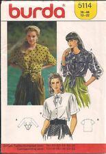 Casual Blouses Sewing Pattern Burda5114 Size 12-22