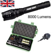 8000lm Brillante CREE XM-L T6 LED Recargable Foco Linterna con zoom luz