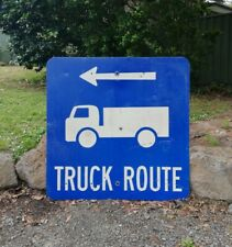 Old Blue Truck Route Road Street Sign Man Cave Shed Traffic Car Display Large