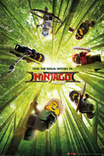 THE LEGO NINJAGO MOVIE - MOVIE POSTER / PRINT (6 NINJAS - BAMBOO)