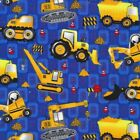 Building 101 Construction Tools Novelty Quilting Cotton  Fabric PBS Blue