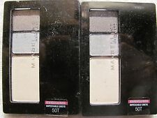 Maybelline Expert Wear  Eye Shadow Trio 0.13 oz #50T Impeccable Grey Lot of 2