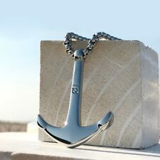 Necklace men/stainless steel/chain/anchor/long/necklaces pendants for women mens