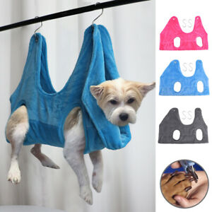 Dog/Cat Hammock Helper Grooming Restraint Bag Harness for Bathing Trimming Nail