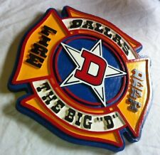 Fire Department Dallas 3D routed carved award plaque wood patch sign Custom