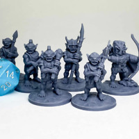 Goblin Gang Miniature Dungeons and Dragons DnD D&D Mini 28mm 32mm