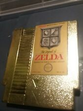 The Legend of Zelda Gold Cartridge Original NES Game Tested bin 232