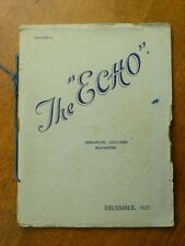 The Echo: Immanuel College Magazine Vol. 2, 1925, South Australian history