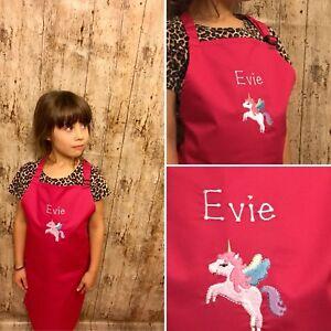 Unicorn Personalised Apron Age 7-10 Years