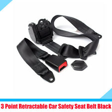 Black 3 Point Car Safety Seat Belt Adjustable Straps with Quick Release Camlock