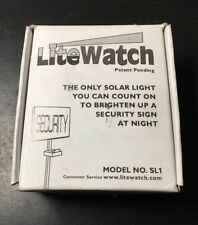 New Lite Watch Solar Powered Night Light Security Address/Yard Sign LED Mod #SL1