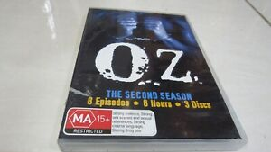 Oz :  TV Season 2 ( MA 15+ rated )DVD, 2007, 3-Disc Set) FREE Registered Postage