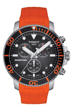 authentic TISSOT SEASTAR 1000 CHRONOGRAPH Orange rubber band T12417.17.051.01