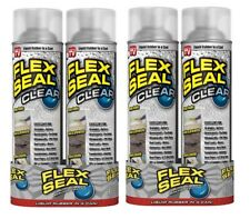 New 4 Packs Flex Seal Spray Rubber Sealant Coating 14 Oz Clear Water Resistant