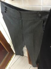 Ladies Black Casual / Office Cropped Autumn Trousers Pants Size UK 16 Short  M&S