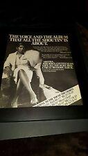 Aretha Franklin Love All The Hurt Away Rare Original Promo Poster Ad Framed!