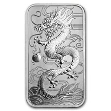 2018 Australia 1 oz silver dragonr coin bar bu