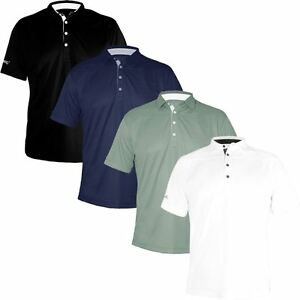 STROMBERG GOLF COOL DRY TECH PERFORMANCE MENS FITTED GOLF POLO SHIRT