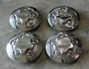 1998-2011 FORD CROWN VICTORIA P71 RANGER CENTER CAP HUB WHEEL COVER SET OF 4
