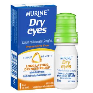Murine Dry Eyes Eye Drops 10mL Long Lasting Dryness Relief Preservative Free