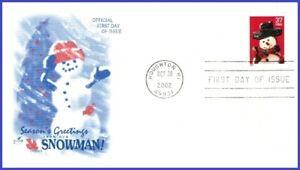 USA3 #3684 U/A ARTCRAFT FDC   Snowman Red Plaid Scarf
