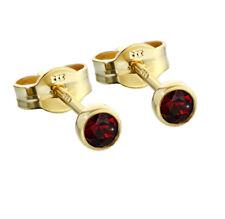 Paar Ohrstecker Gold 333er 3,50mm echt Granat Damen Herren Kinder 6704