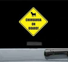 Chihuahua on board dog pet lover baby funny joke car vinyl sticker decal bumper
