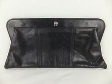 ETIENNE AIGNER Vintage Echtleder Handtasche - schwarz - Baguette Tasche - Clutch