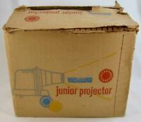 Viewmaster Junior Projector In OB Vintage Brown & Tan With 4 Cards Sawyers (O)