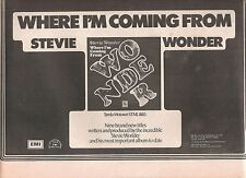 STEVIE WONDER Where I'm Coming From 1971  UK  Press ADVERT 12x8""