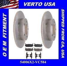 Rear Brake Rotors Pads For FORD Probe 1993 to 1997 . Mazda 626, MX-6, Protege
