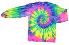 Tie-Dye Shirt - Long Sleeve / Crazy Flo Rainbow / Medium