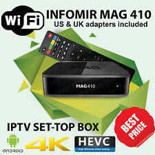 GENUINE Infomir MAG 410 Android 4K Media Streamer IPTV OTT SetTop Box BEST PRICE